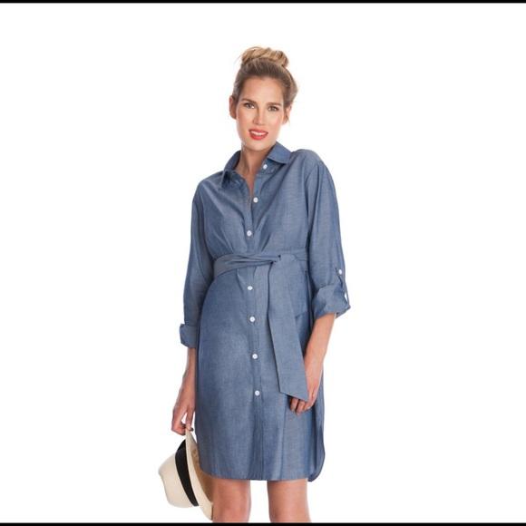 68f0d2abb83156 Seraphine Dresses | New Chambray Maternity Shirt Dress 2 | Poshmark